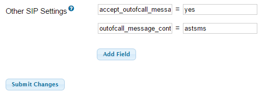 Enable SIP SMS Support (THIS IS NOT CELLULAR SMS