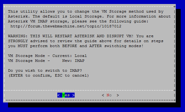 Switching to and from imap voicemail storage after the process is complete you will be presented with a message acknowledging the switch was successful and the current mode m4hsunfo Image collections